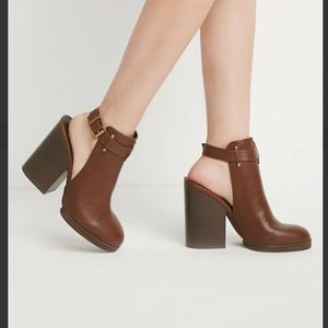 Forever 21 cutout Faux Leather Booties